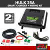 HULK 25 Amp + Wiring Kit 12/24V DC to DC Dual Battery In-Vehicle HU6525 Charger with Solar