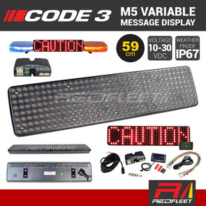 CODE 3 M5 Matrix L.E.D. Variable Message Display Board for Vehicles