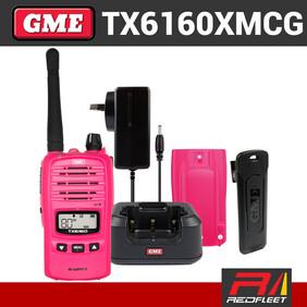 GME TX6160XMCG IP67 UHF CB Handheld Portable Two Way Radio McGrath Foundation Pink