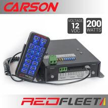 "CARSON SC-411HD ELITE ""Dual-Tone"" 200 Watt Siren Amplifier with Hand-Held Control & Microphone"