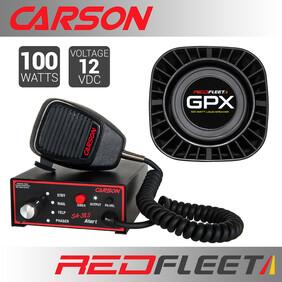 CARSON SA-385A SIREN + GPX100 SPEAKER BUNDLE PACK