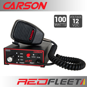 CARSON SA-385 ALERT 100 Watt Siren Amplifier with Public Address Speaker Microphone