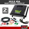 HULK 40 Amp + Wiring Kit 12/24V DC to DC Dual Battery In-Vehicle HU6540 Charger with Solar