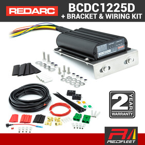 REDARC 25 Amp BCDC1225D Battery Charger with Universal Bracket & Wiring Kit