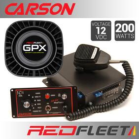 CARSON SA-441M DUAL-TONE SIREN + 2x GPX100 SPEAKERS BUNDLE PACK