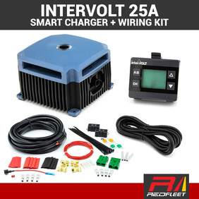 INTERVOLT 25 Amp + Wiring Kit 12V DC to DC Dual Battery In-Vehicle Charger with Solar DCC1225ACK-RP