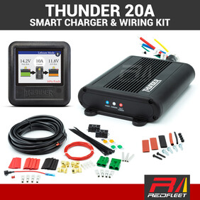 THUNDER 20 Amp 12-24V DC-DC In-Vehicle Battery Solar Charger with Optional Universal Wiring Kit