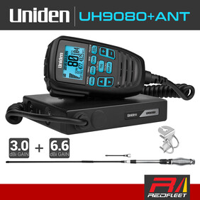 Discontinued - UNIDEN UH9080+ANT Accessory Pack UHF CB Two Way In Car Vehicle Radio