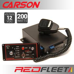 "CARSON SA-441 MAGFORCE ""Dual-Tone"" 200 Watt Siren Amplifier with Public Address Speaker Microphone"