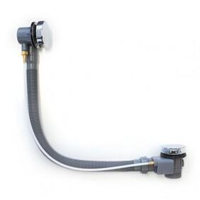 Bath Overflow Kit | Remote Plug & Waste | Dome | Length - 1300 - 900 -700mm | Chrome | BD-025