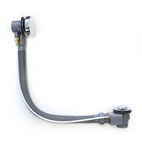 Bath Overflow Kit | Remote Plug & Waste | Standard | 1300 - 900 -700mm |Chrome | Code: BD-017