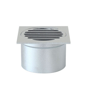Floor Grate  | Grate | 85mm Square | Brass | 80x52mm Tail | Chrome | Code: TWF-081