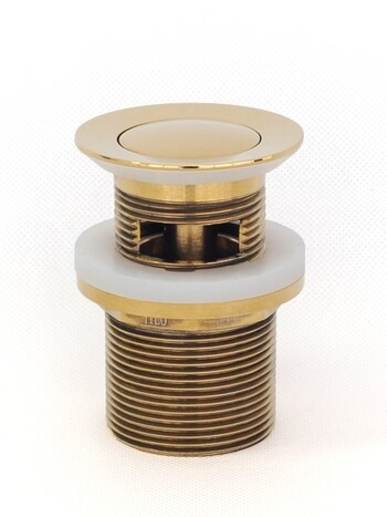 Basin Waste | Premium | 32x40mm Universal Pull Out Pop Up Basin Waste | Gold | TWS-21G