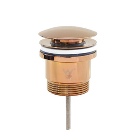 Basin Waste | 32x40mm 2-Piece Universal Pop Up Basin Waste | Bolt Style | Dome | Rose Gold
