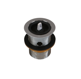 Basin Waste | 40 x 75mm with Overflow | Rubber Plug | Chrome - Code: TW-171