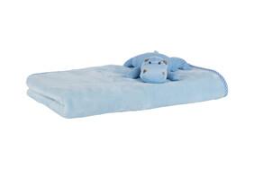 Blue Baby Hippo Blanket