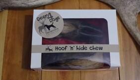 Deer 4 Dogs hoof 'n' hide chew 2 pack