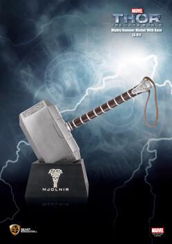 Thor the Dark World Mighty Hammer Mjolnir with Base