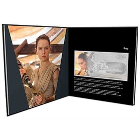 Star Wars: The Force Awakens - Rey™ 5g Silver Coin Note Plus Collector's Album