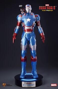 Iron Man 3 Iron Patriot Life Size Figure