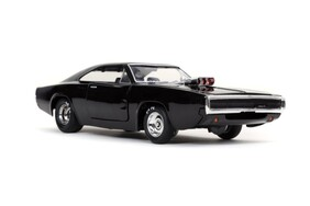 Fast and Furious 9: The Fast Saga - 1970 Dodge Charger Black 1:24 Scale Hollywood Ride
