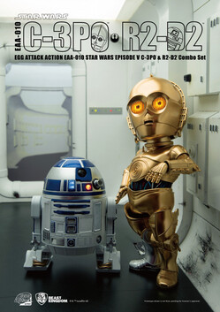 Egg Action Attack Star Wars Episode 5 C3PO and R2D2 Combo Set