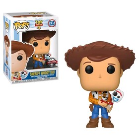 Toy Story 4 - Woody with Forky US Exclusive Pop! Vinyl