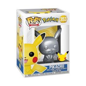 Pokemon - Pikachu Silver Metallic 25th Anniversary Pop! Vinyl [RS]
