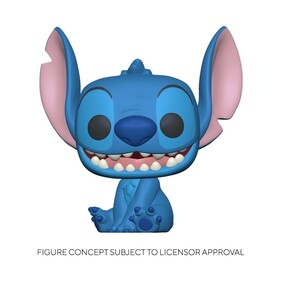 Lilo & Stitch - Stitch Seated Flocked US Exclusive Pop! Vinyl [RS]