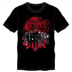 Suicide Squad Group Black Tee (Small)