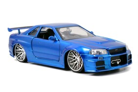 Fast and Furious - '02 Nissan Skyline GT-R R34 1:24 Scale Hollywood Ride