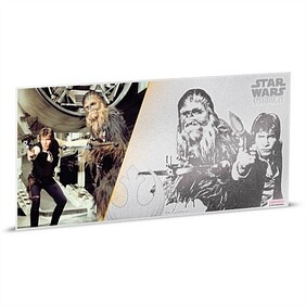 Star Wars: A New Hope - Han Solo™ And Chewbacca™ 5g Silver Coin Note