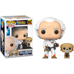 Back to the Future - Doc with Einstein US Exclusive Pop! Vinyl