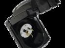 15 AMP 240V POWER INLET - Black Clipsal External Weatherproof