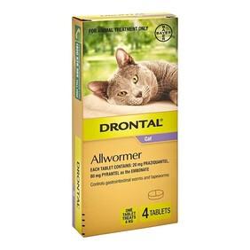 Drontal Cat Allwormer 4kg x 4
