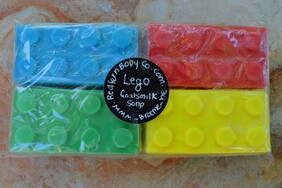 Lego Goats Milk Soap 4 Pack
