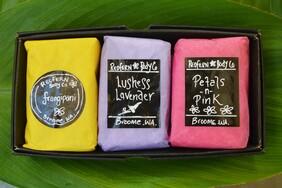 Floral Range 3 Bar Assorted Gift Box Set - Olive Oil Soaps