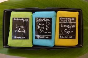 Citrus Fresh Range 3 Bar Assorted Gift Box Set - Olive Oil Soaps