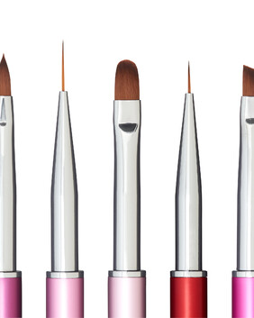 Collection of 5 GET BUFFED PRO BRUSHES