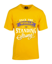 Yellow Standing Strong T-Shirt (Cost plus $10 shipping)