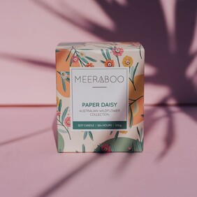 Meeraboo - Paper Daisy Boxed Soy Candle