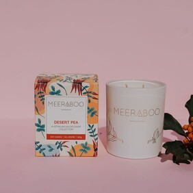 Meeraboo - Desert Pea Boxed Soy Candle