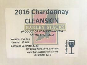 2016 Chardonnay CLEANSKIN - By the Dozen