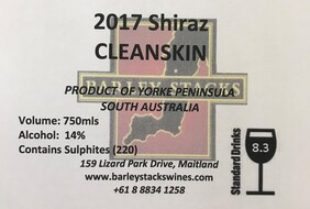 2017 Shiraz CLEANSKIN - By the Dozen