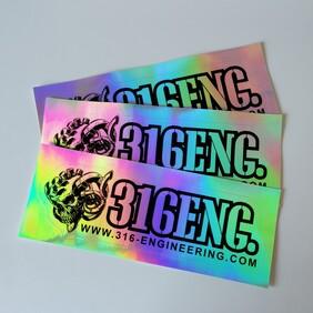 316ENG Hologram Sticker