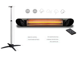 Veito Blade Black Heater With Stand