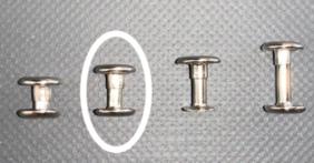 2 Piece Rivets 10mm – 50 per Pack - N81010