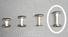 2 Piece Rivets 15mm – 50 per Pack - N81015