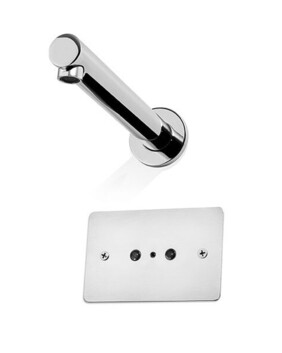 Autoflo Wall Mounted Sensor Tap with Wall Plate Mount Holes - Mains Power - Code: 100-0177
