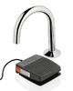 AUTOFLO - FOOT OPERATED - BASIN SENSOR TAP -  MAINS POWERED - G/NECK OUTLET - CHROME - CODE 100-0195